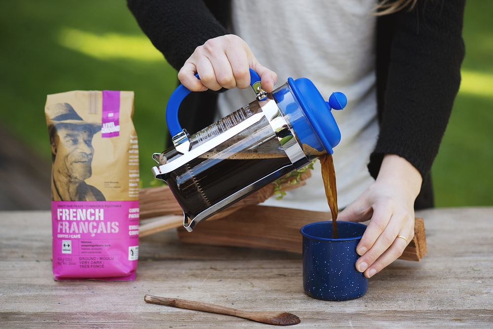 Travelling Having a French Press